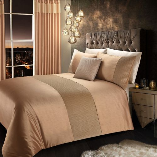 LATTE BEIGE STYLISH QUILTED VELVET LUXURY DUVET COVER BEAUTIFUL MODERN BEDDING
